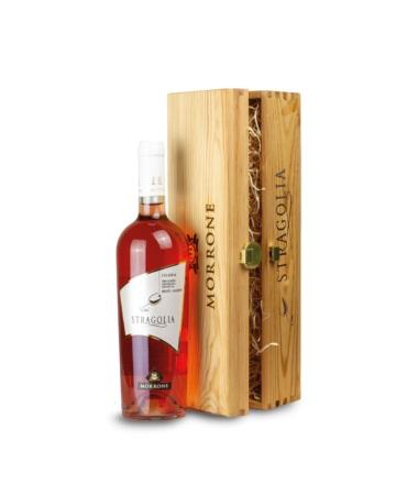 Cofanetto in legno con Vino Stragolia Rosato IGP - Idea regalo