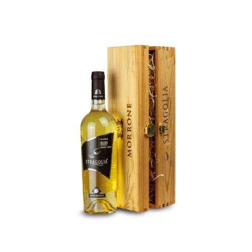 Cofanetto in legno con Vino Stragolia Bianco IGP - Idea regalo
