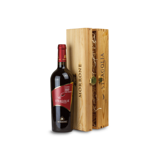 Cofanetto in legno con Vino Stragolia Rosso IGP - Idea regalo